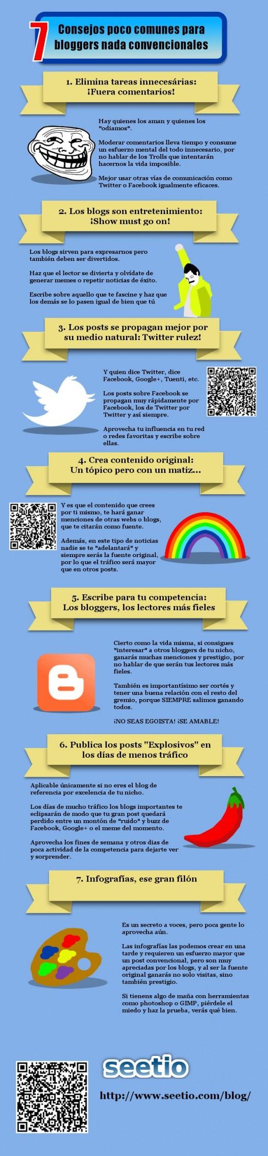 Infografia con consejos para tener un Blog exitoso