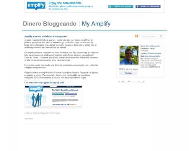 Dinero Bloggeando en Amplify
