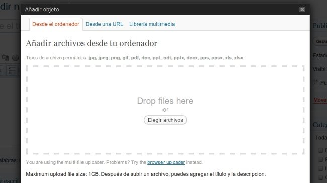 Wordpress con Menus flotantes