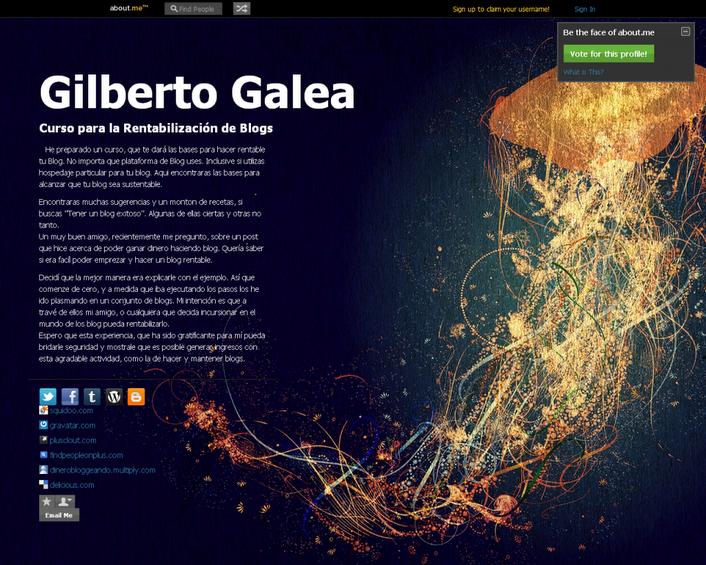 Integra tu perfil de About.me en WordPress (1/2)