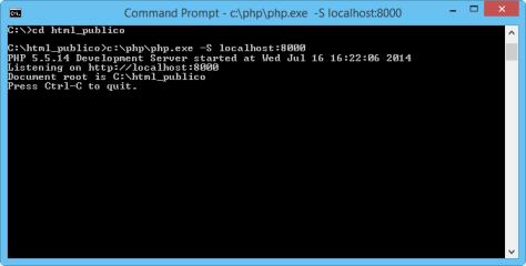 Ejecutanto Servidor PHP Interno