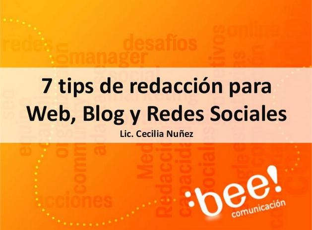 7 tips de copywriting para Web, Blog y RedesSociales
