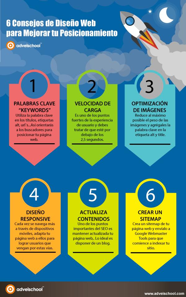 6 consejos de diseño web para mejorar el posicionamiento