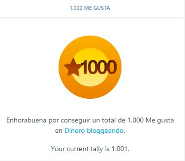 ¡Gracias a todos, por los primeros 1000 MeGusta!