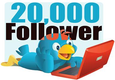 ¡Ya alcanzamos 20000 Seguidores entwitter!