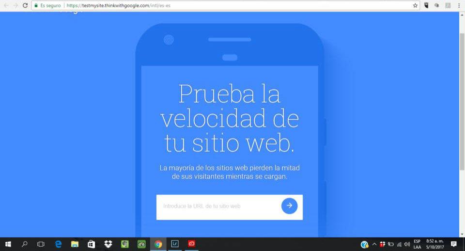Prueba la velocidad de tu web