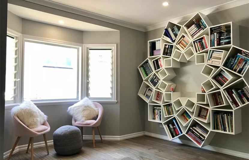 Pareja crea increíble librería inspirados enPinterest